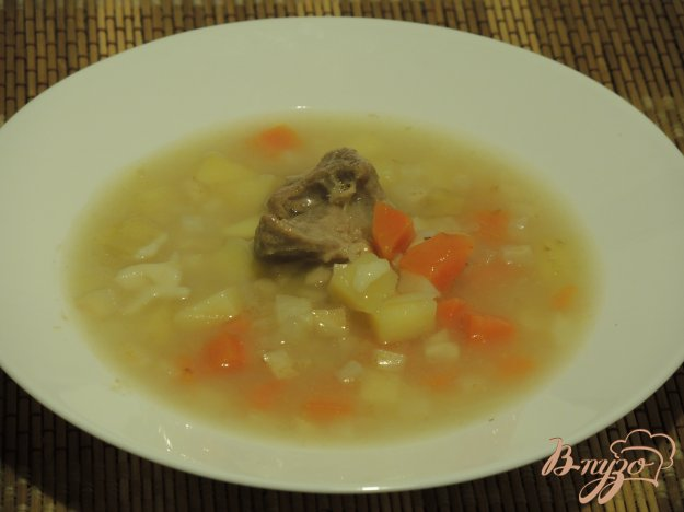 Овощной суп на мясном