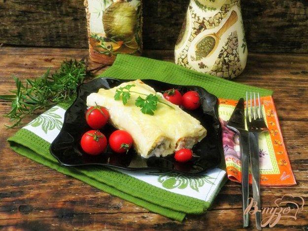 фото рецепта: Канеллони с куриной грудкой и овощами