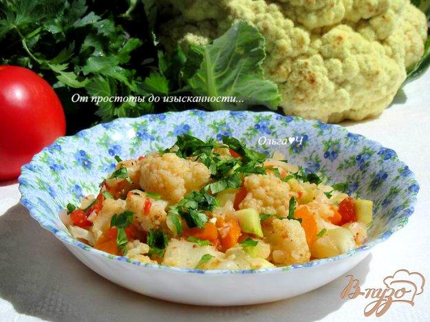 фото рецепта: Овощное рагу с цветной капустой