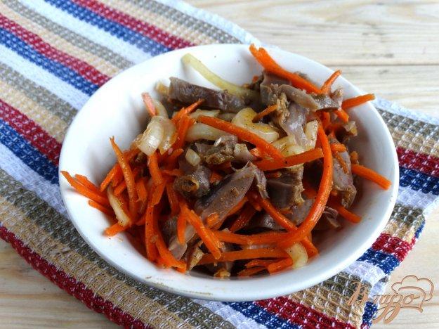 фото рецепта: Куриные желудочки по-корейски