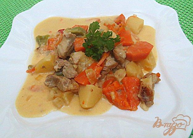 фото рецепта: Свинина тушёная с тыквой