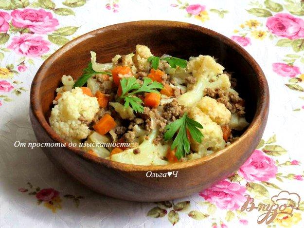 фото рецепта: Цветная капуста с мясным соусом
