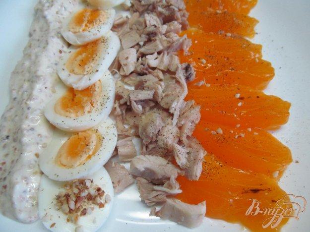 фото рецепта: Салат с хурмой и курицей