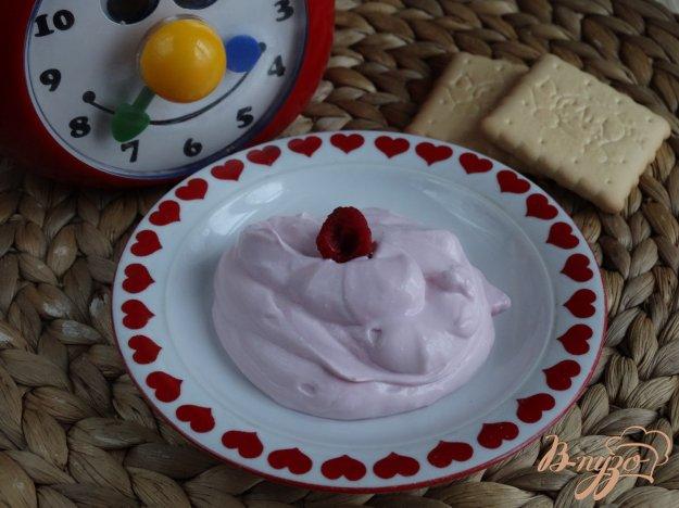 фото рецепта: Детский малиновый творожок