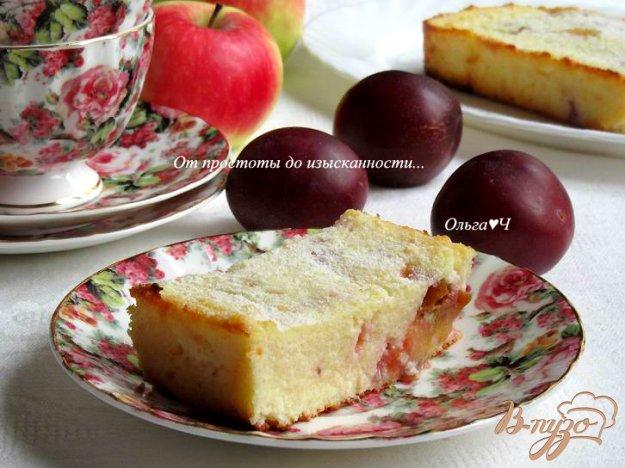 фото рецепта: Творожная запеканка со сливами
