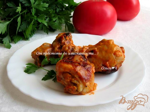 фото рецепта: Куриные голени в имбирном соусе