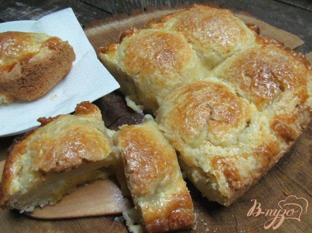 фото рецепта: Яблочный пирог из творожного теста