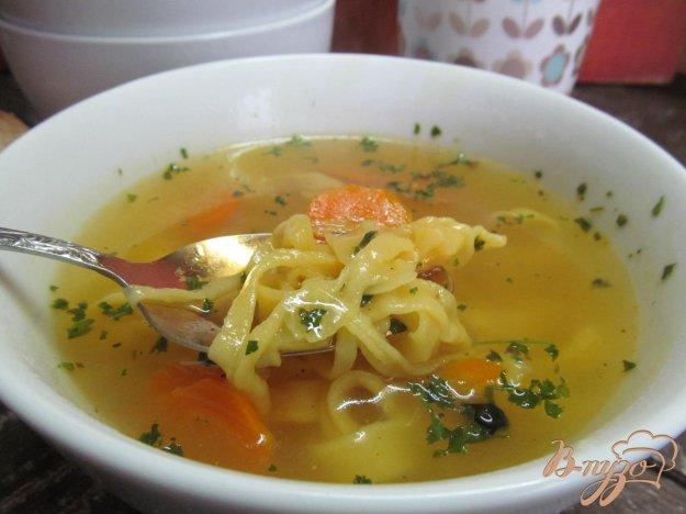 фото рецепта: Суп с домашней лапшой