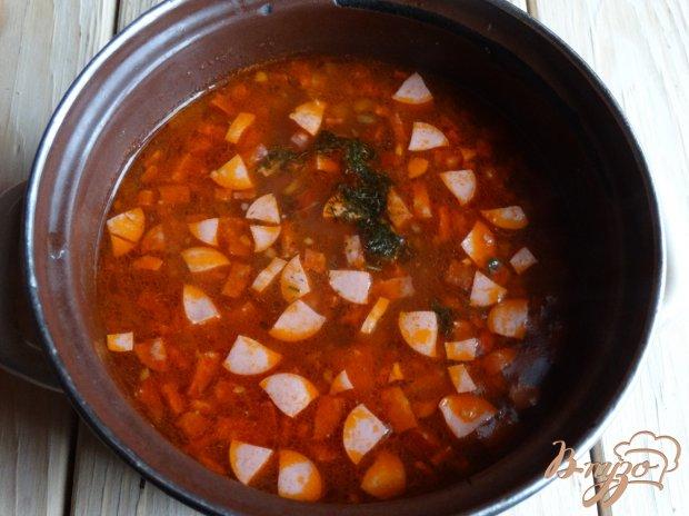 Солянка с сосисками в мультиварке пошаговый рецепт с
