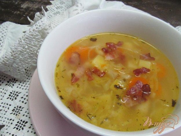 фото рецепта: Овощной суп с квашенной капустой на беконе