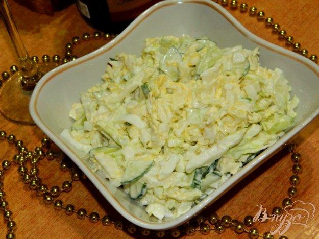 фото рецепта: Салат из пекинской капусты с огурцом