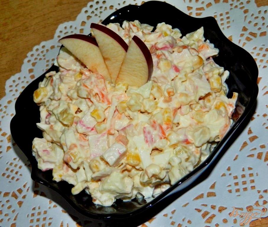 вкусный салат из краба натурального рецепт с фото
