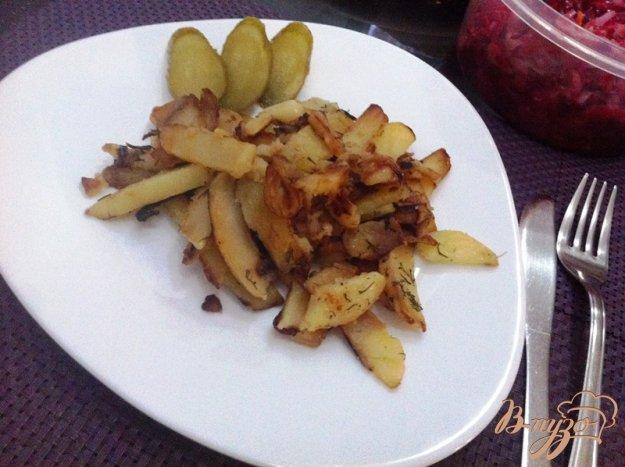 фото рецепта: Картофель жаренный с луком