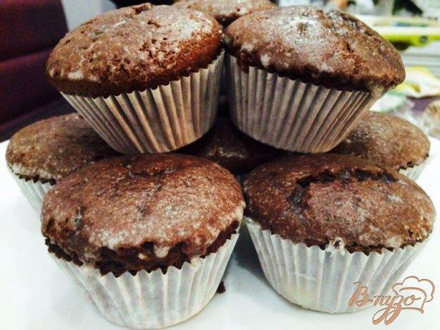 Шоколадные кексы с джемом