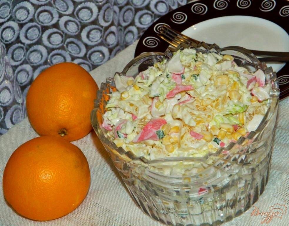 Салат с апельсинами и кукурузой рецепт
