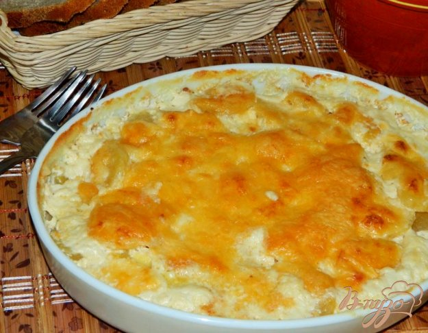 фото рецепта: Картофель, запеченый в сливках
