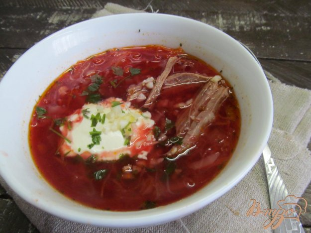 Борщ с маринованной капустой рецепт