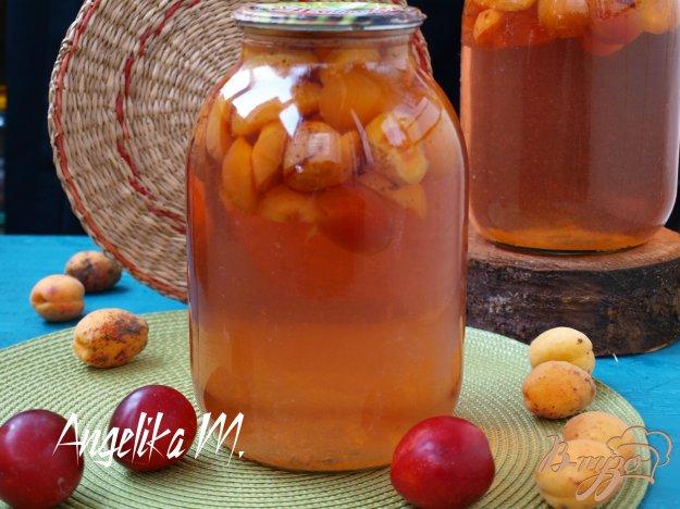 фото рецепта: Компот из слив и абрикос