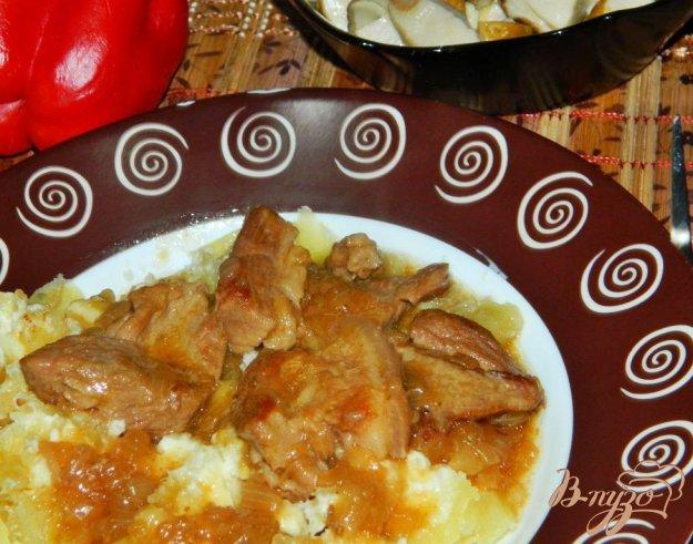 фото рецепта: Свинина в луковом соусе
