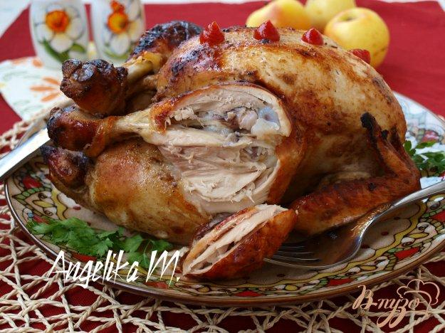 Курица запеченная с яблоками рецепт