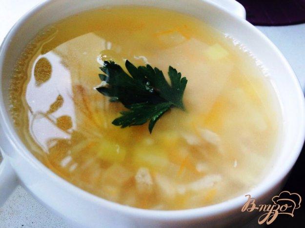 фото рецепта: Суп из кролика, риса и кукурузы для деток