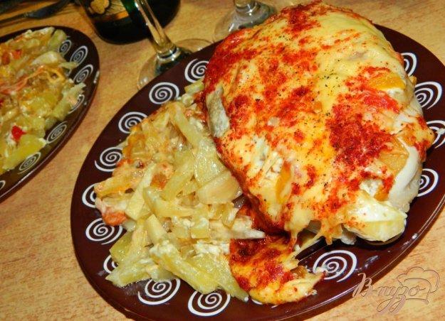 фото рецепта: Куриные грудки, запечёные с овощами