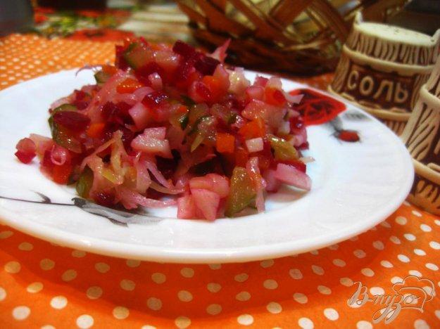 фото рецепта: Зимний салат с квашеной капустой