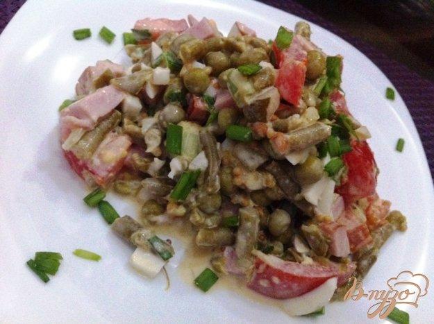 фото рецепта: Салат овощной с ветчиной