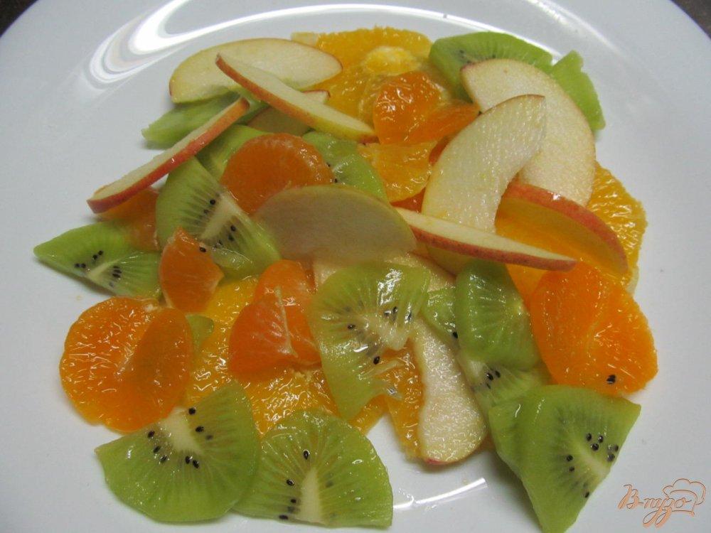 Фруктовый салат с кремом рецепт