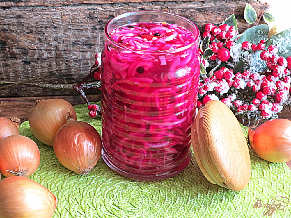 маринованный лук со свеклой рецепт с фото