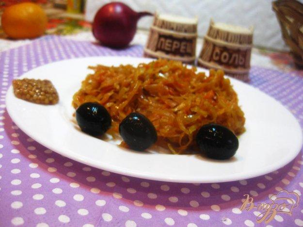фото рецепта: Тушёная квашеная капуста