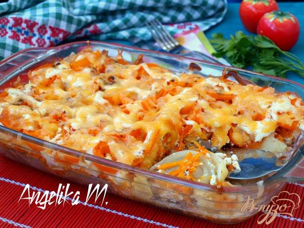 фото рецепта: Свинина с овощами под сырной корочкой