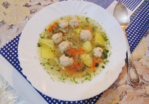 фото рецепта: Овощной суп с фрикадельками
