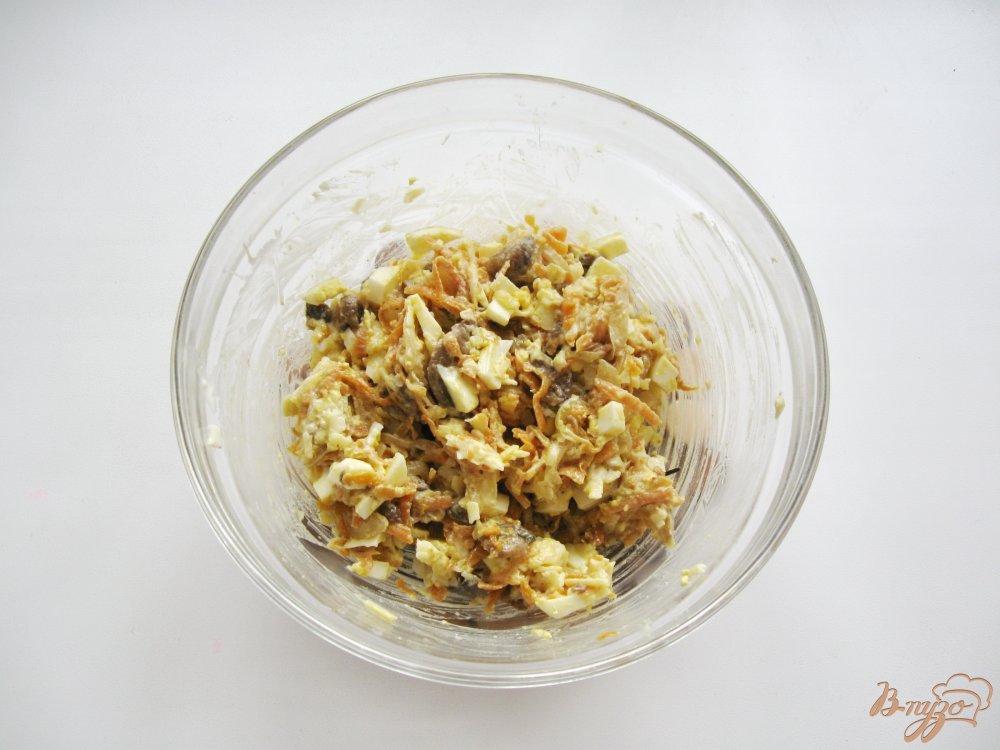 рецепт салат из моркови с чесноком и яйцом