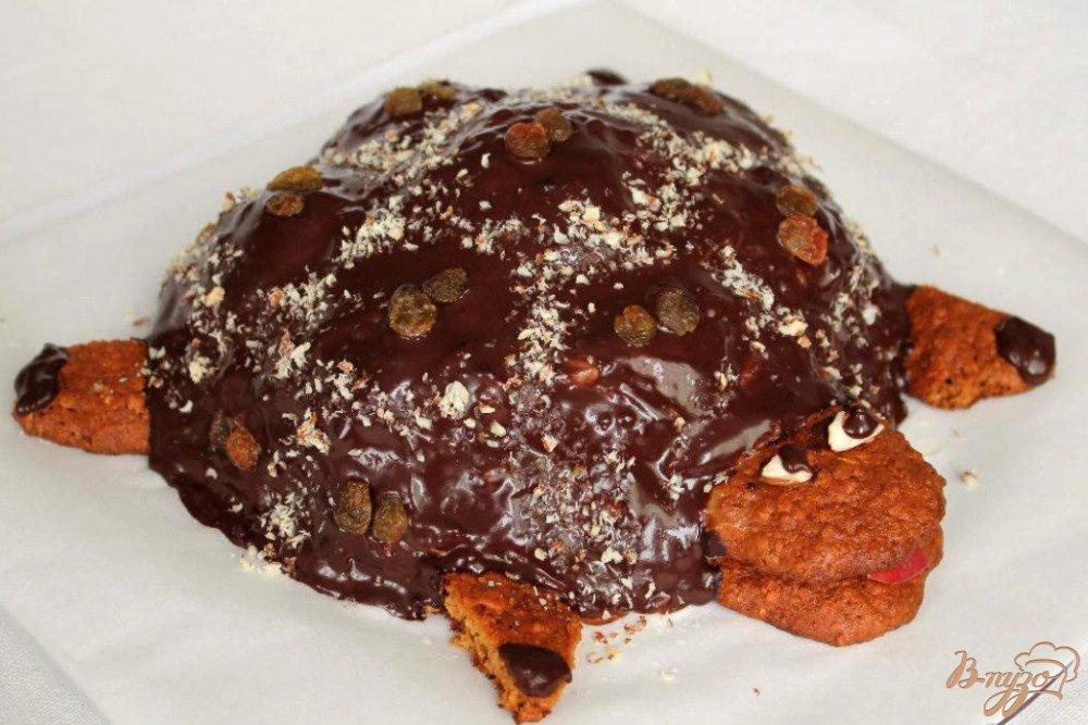 Торт черепаха рецепт с орехами