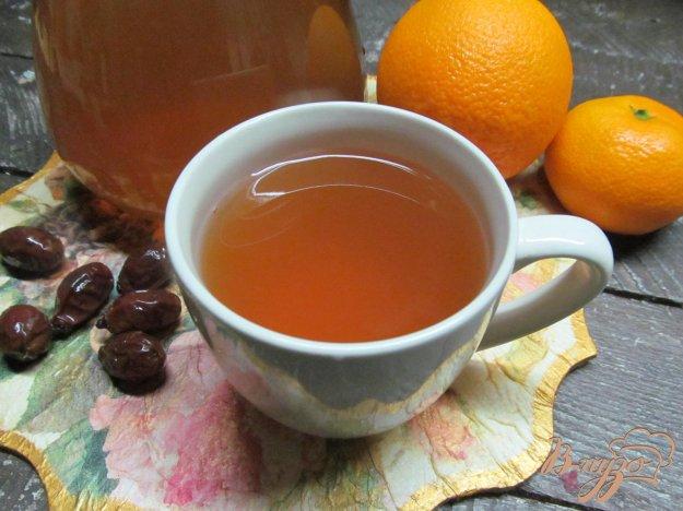 фото рецепта: Компот из сухого шиповника с апельсином