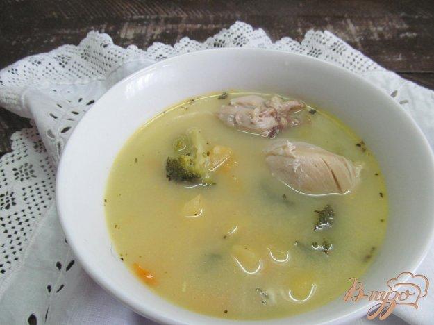 фото рецепта: Сливочный суп с овощами на курином бульоне