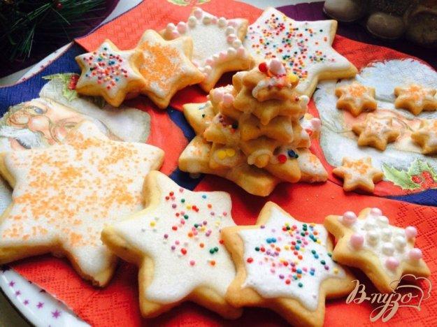 фото рецепта: Миндальное новогоднее печенье