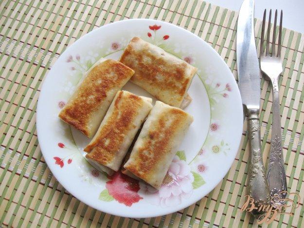 фото рецепта: Блинчики с мясом, яйцом и луком