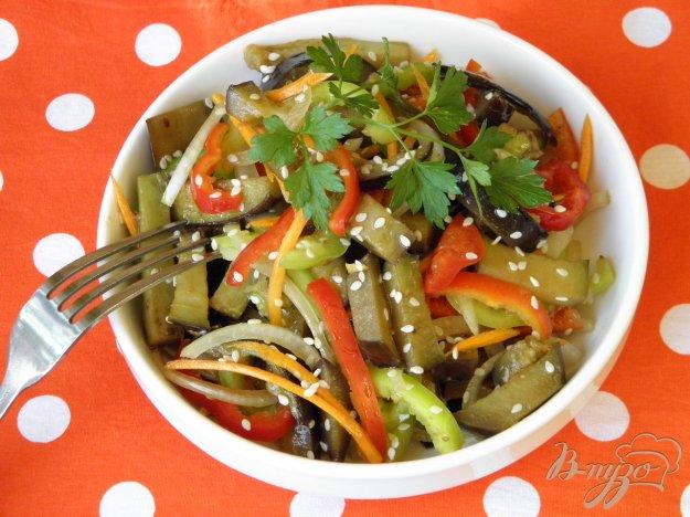 фото рецепта: Салат с жареными синенькими