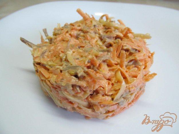 Салат из говядины и сырой моркови