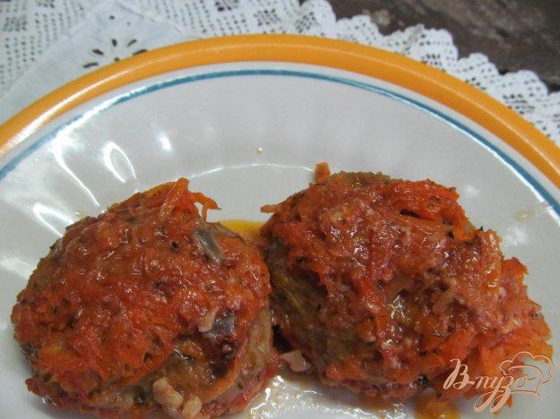 фото рецепта: Ленивые голубцы с грибами и говядиной