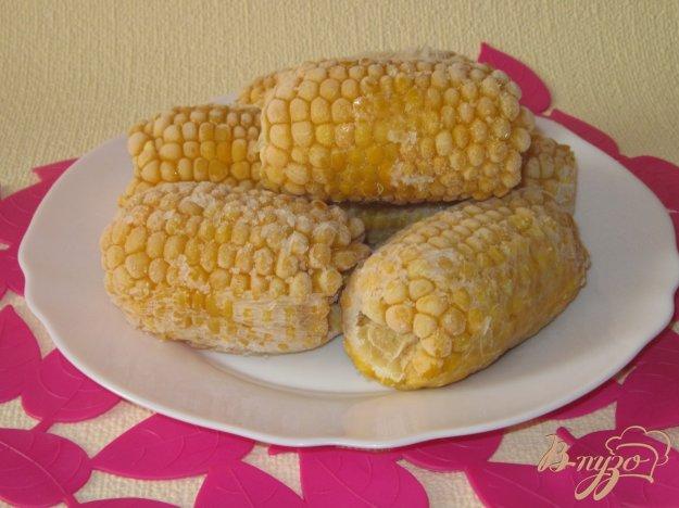фото рецепта: Замороженные вареные початки кукурузы