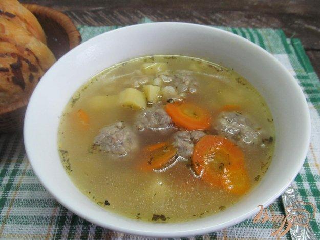 фото рецепта: Перловый суп с фрикадельками