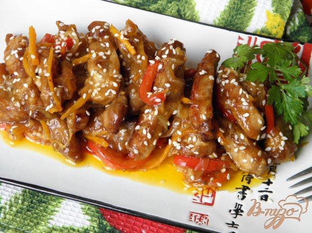 фото рецепта: Пикантное жареное мясо в соусе