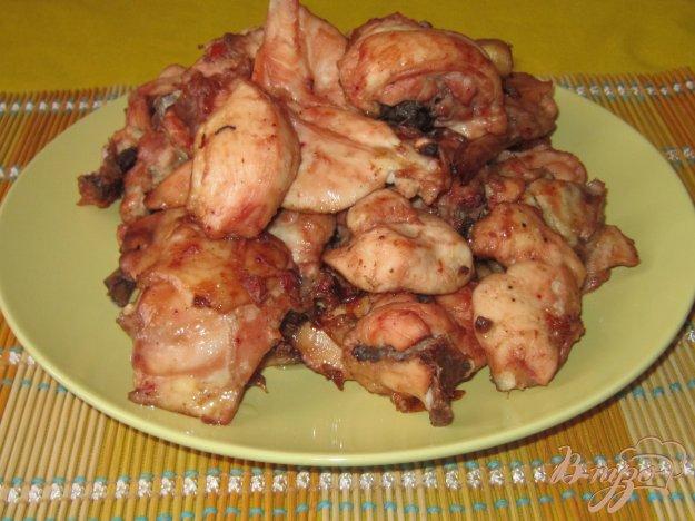 фото рецепта: Курица запеченная в томатно-соевом соусе