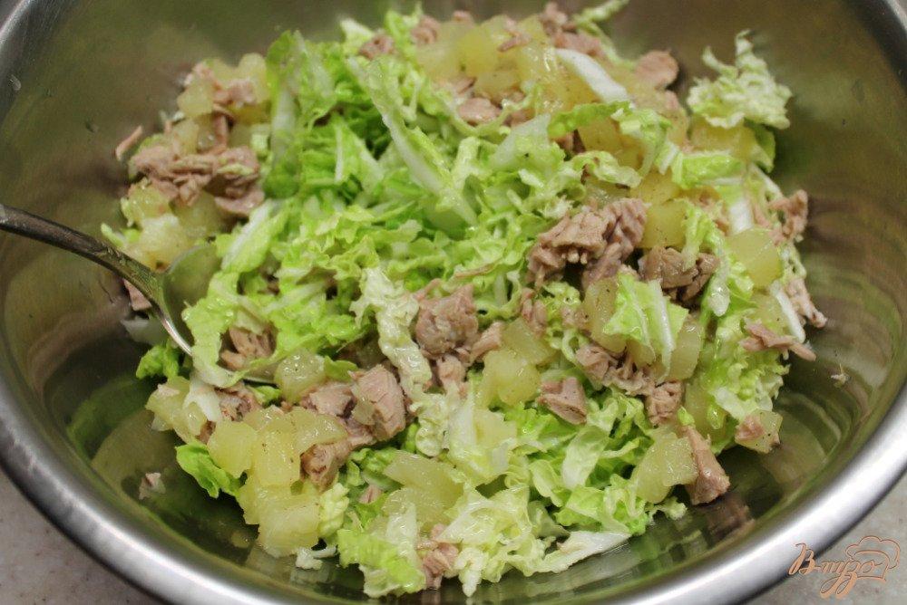 Рецепты салатов с говядиной и ананасами