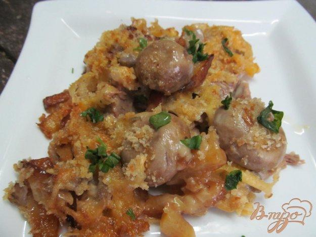 фото рецепта: Вареная говядина запеченная под сметанным соусом