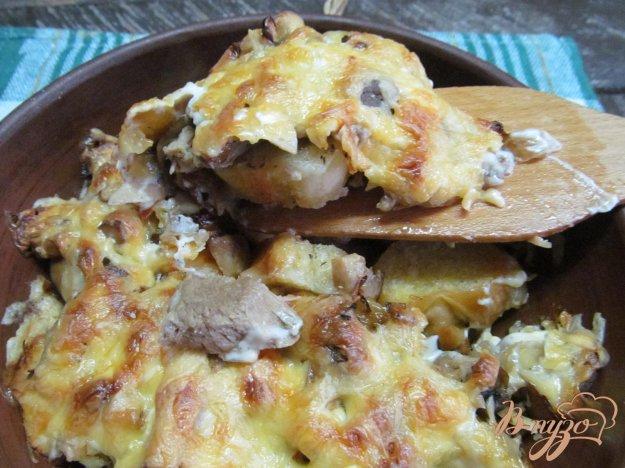 фото рецепта: Отварная говядина запеченная под сыром
