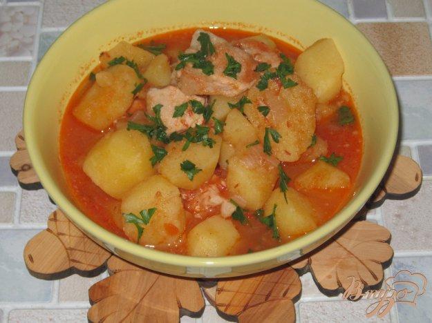 Картошка с кабачком и с мясом тушеная рецепт с фото в мультиварке